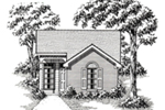 Ranch House Plan Front of House 060D-0115