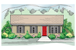 Ranch House Plan Front of House 060D-0116