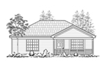 Ranch House Plan Front of House 060D-0117
