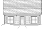 Ranch House Plan Front of House 060D-0119