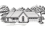 Traditional House Plan Front of House 060D-0121