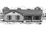 Traditional House Plan Front of House 060D-0123