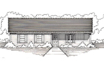Traditional House Plan Front of House 060D-0124