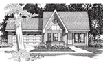 Traditional House Plan Front of House 060D-0125