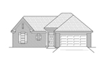 Ranch House Plan Front of House 060D-0127
