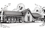 Ranch House Plan Front of House 060D-0130