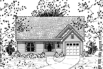 Saltbox House Plan Front of Home - 060D-0131 | House Plans and More
