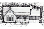 Ranch House Plan Front of House 060D-0132