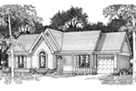 Traditional House Plan Front of House 060D-0134
