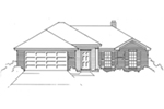 Rustic Home Plan Front of House 060D-0136