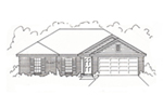 Ranch House Plan Front of House 060D-0137