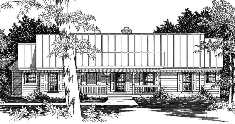 Country House Plan Front of Home -  060D-0153 | House Plans and More