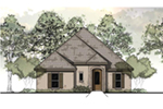Sunbelt Home Plan Front of Home -  060D-0157 | House Plans and More