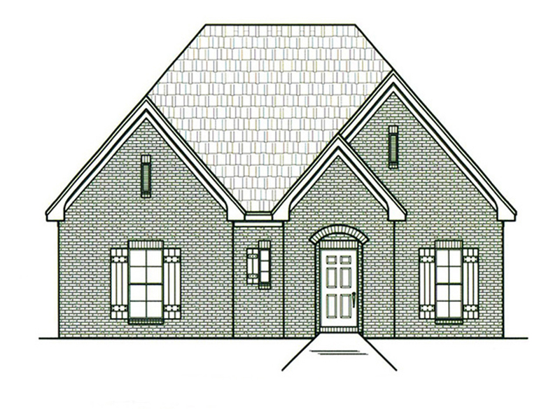 Ranch House Plan Front of Home -  060D-0209 | House Plans and More