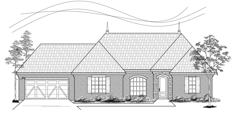 Traditional House Plan Front of Home - 060D-0219 | House Plans and More