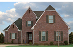 Early American House Plan Front of Home -  060D-0434 | House Plans and More