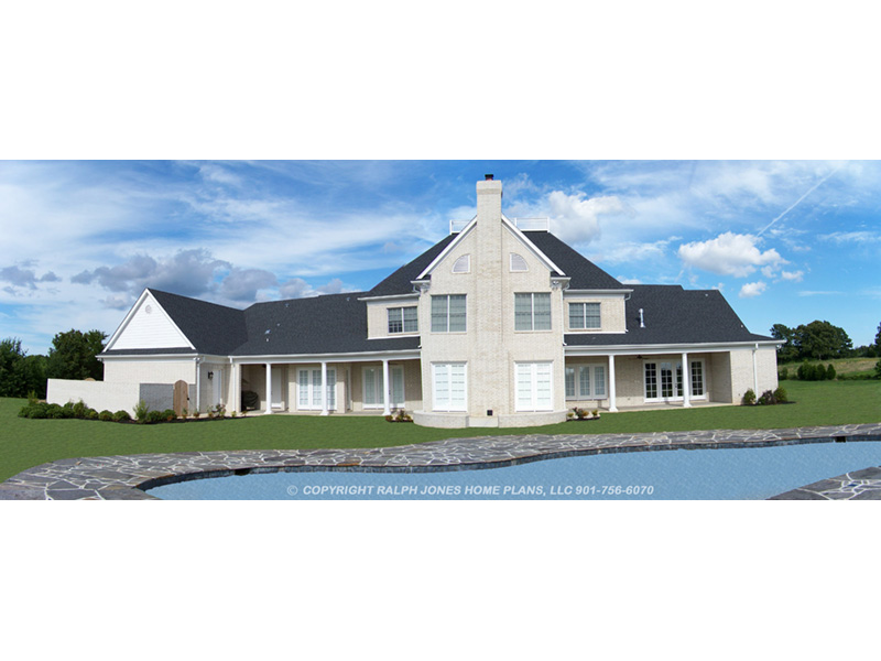 Traditional House Plan Rear Photo 01 -  060D-0518 | House Plans and More