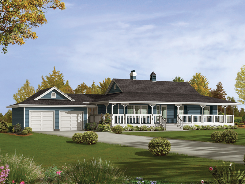 Caldean Country Ranch Home Plan 062D-0041 | House Plans and More on wraparound porch house plans, front porch house plans, screened porch house plans, grilling porch house plans, covered porch house plans, wrap around porch,