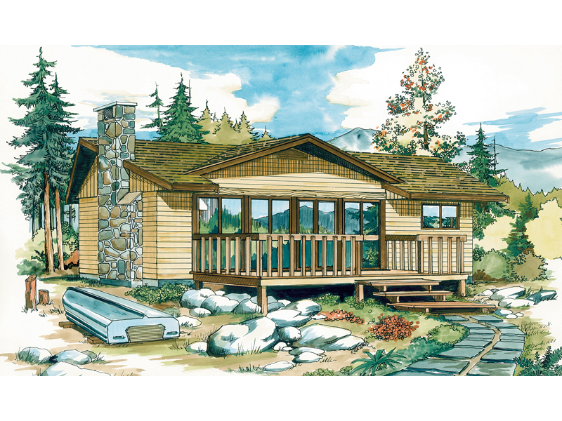 Overbrook Rustic Vacation Home Plan 062d 0150 House Plans