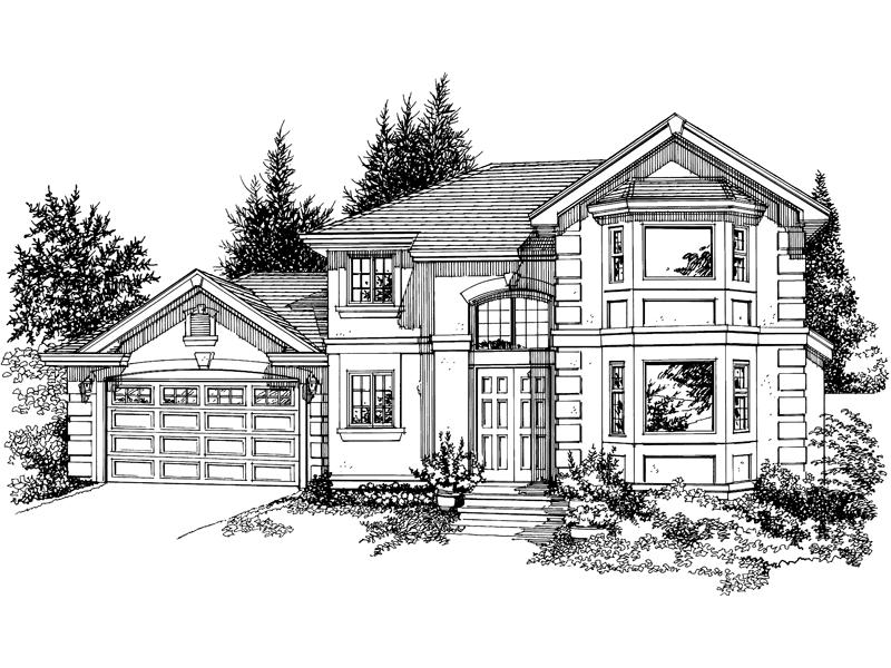 Mannington Trace Stucco Home Plan 062D-0386   House Plans ...