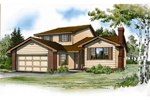 Traditional House Plan Front of Home - Markham Mill Traditional Home 062D-0433 | House Plans and More
