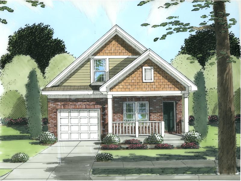 Novara Bend Narrow Lot Home Plan 065D-0240   House Plans and ... on