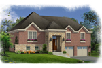 Ranch House Plan Front of Home -  065D-0396 | House Plans and More