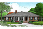 Welcoming And Comfortable Ranch House With Covered Porch And Brick Exterior