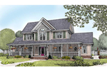 Country Style Two-Story Farmhouse With Charming Covered Porch