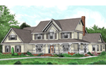 Luxury Two-Story Country Farmhouse Design