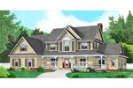 Striking Country Farmhouse With Wrap-Around Porch