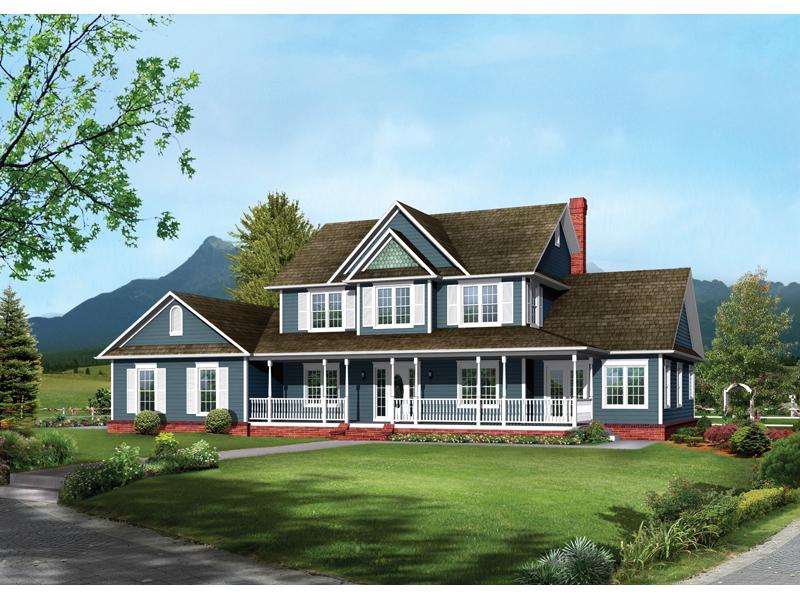 . Bennington Country Farmhouse Plan 068D 0016   House Plans and More