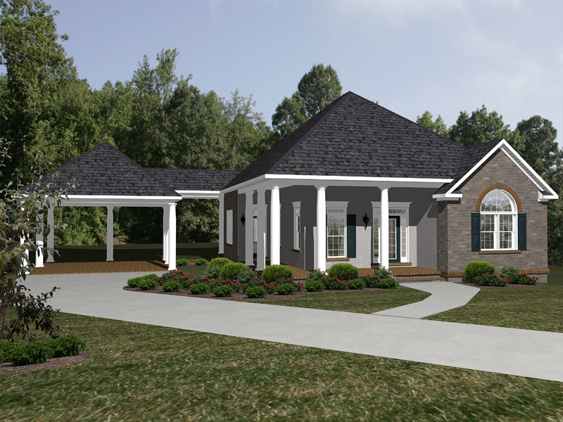 Foxbridge Ranch Home Plan 069D-0115 | House Plans and More on