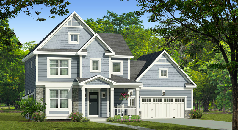 Traditional House Plan Front of Home - Hines Point Traditional Home 070D-0742 | House Plans and More