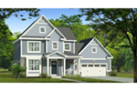 Colonial House Plan Front of Home - Hines Point Traditional Home 070D-0742 | House Plans and More