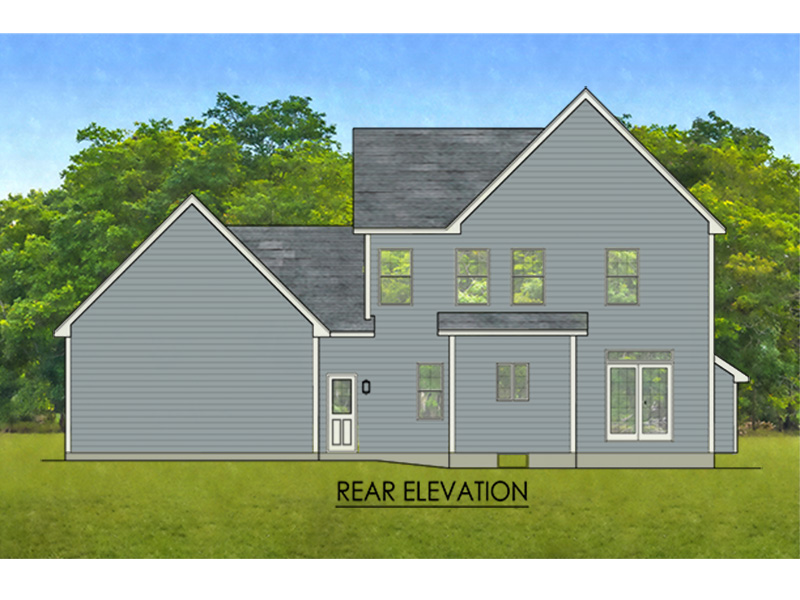 Colonial House Plan Rear Photo 01 - Hines Point Traditional Home 070D-0742 | House Plans and More