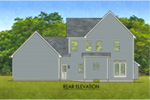 Traditional House Plan Rear Photo 01 - Hines Point Traditional Home 070D-0742 | House Plans and More