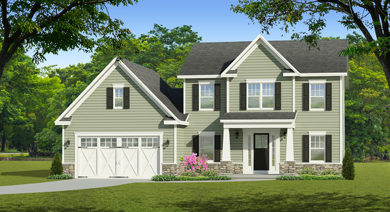 Traditional House Plan Front of Home - Glen Brook Traditional Home 070D-0743 | House Plans and More