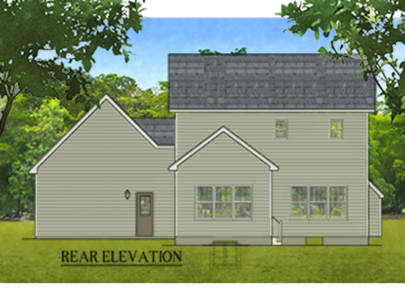Traditional House Plan Rear Photo 01 - Glen Brook Traditional Home 070D-0743 | House Plans and More