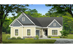 Ranch House Plan Front of Home - Eton Park Ranch Home 070D-0744 | House Plans and More