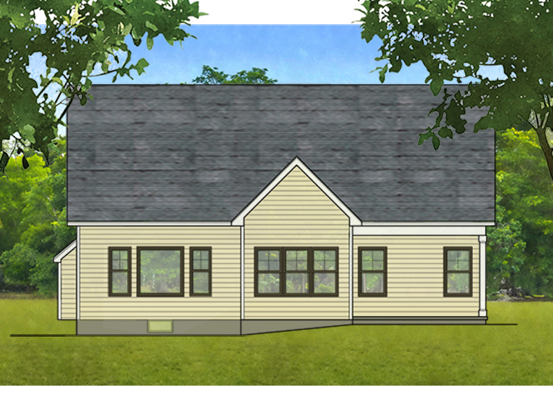 Ranch House Plan Rear Photo 01 - Eton Park Ranch Home 070D-0744 | House Plans and More