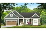 Traditional House Plan Front of House 070D-0745