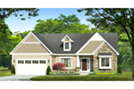 Traditional House Plan Front of Home - Corley Heights Ranch Home 070D-0746 | House Plans and More