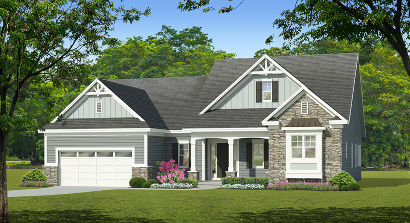 Craftsman House Plan Front of Home - Aiken Downs Craftsman Home 070D-0748 | House Plans and More