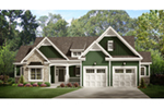 Ranch House Plan Front of Home - Behlmann Bay Ranch Home 070D-0749 | House Plans and More