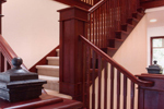 Craftsman House Plan Stairs Photo - Rooney Craftsman Home 071D-0003 | House Plans and More