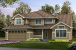 Terrific Two-Story House Combines Simple Craftsman Style