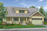 Home Has Bungalow Style And Covered Front Porch