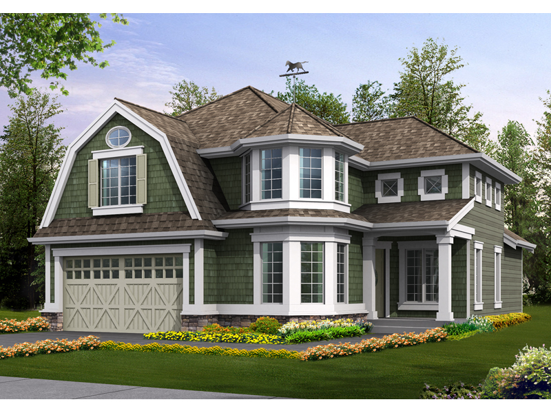 Shingle House Plan Front Image - Lynnbrook Shingle Style Home 071D-0101 | House Plans and More