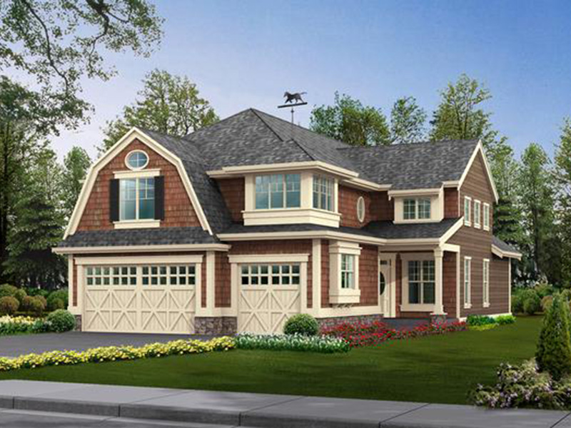 Shingle House Plan Front Photo 01 - Lynnbrook Shingle Style Home 071D-0101 | House Plans and More